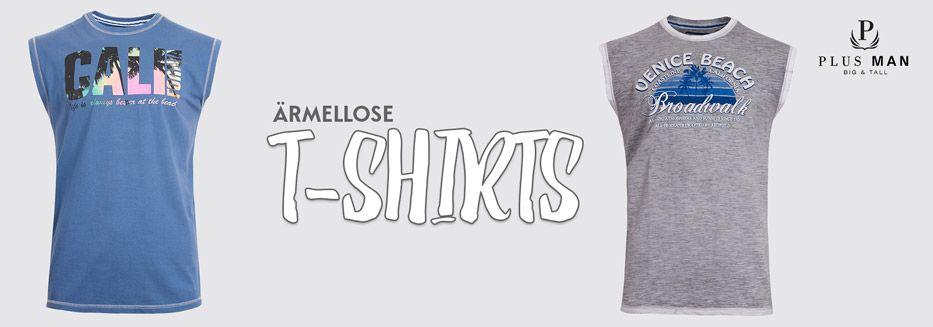 Ärmellose T-Shirts in Übergrößen