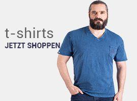 Kurzarm T-Shirts in grosse Größen