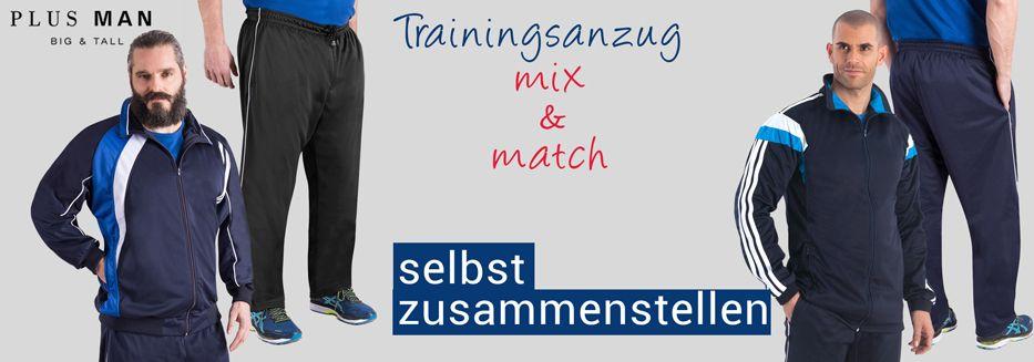 Übergrößen Trainingsanzüge Mix & Match