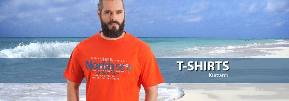 Kurzarm T-Shirts in großen Größen