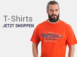 Kurzarm T-Shirts in großen Größen.