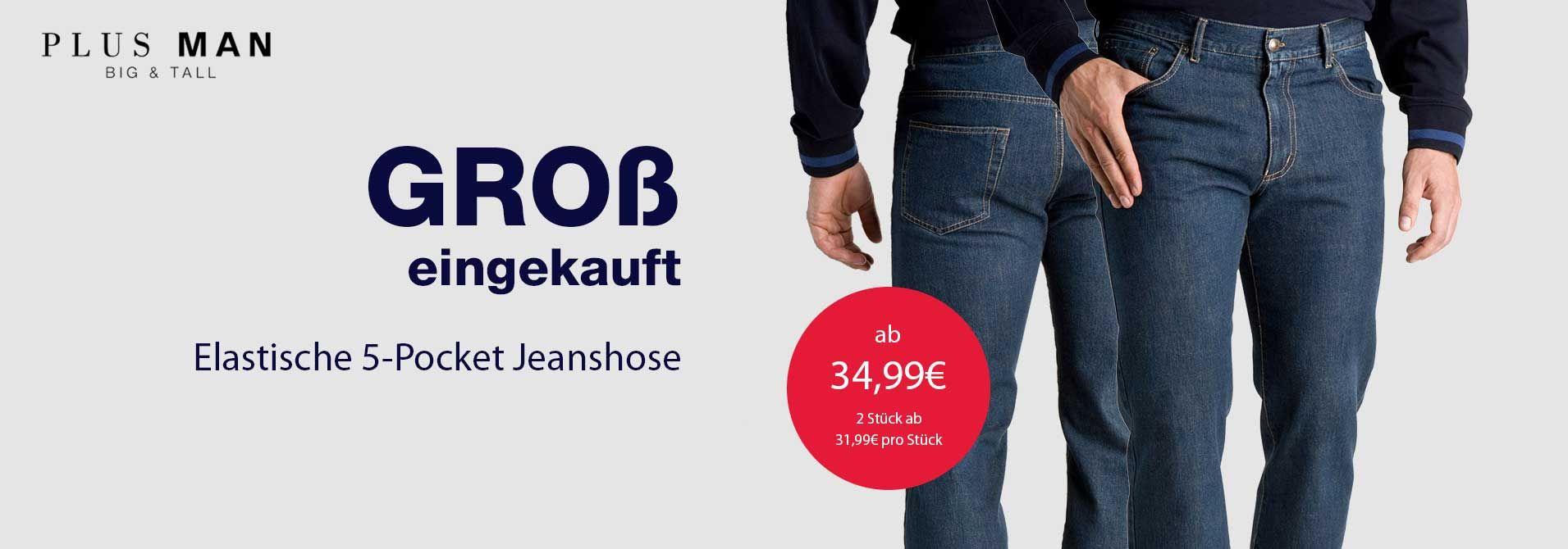 Übergrößen Jeanshose