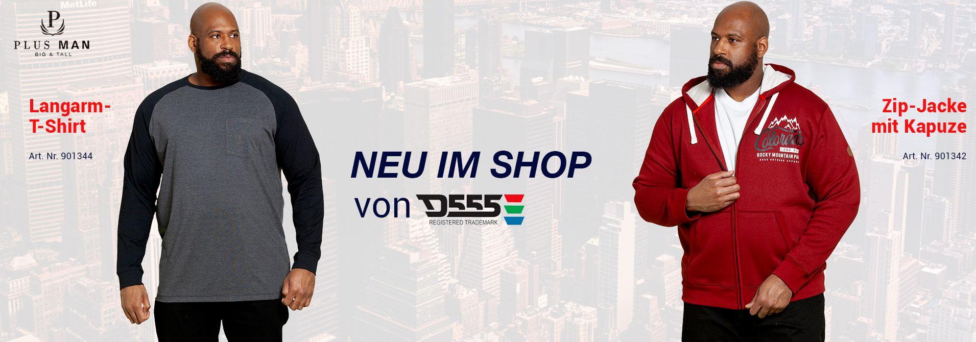 NEU: Übergrößen Herrenbekleidung von D555