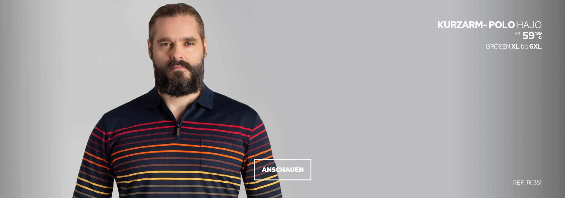 Übergrößen Poloshirt von Hajo