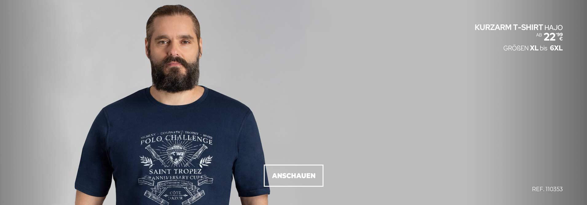 Übergrößen T-shirt von Hajo