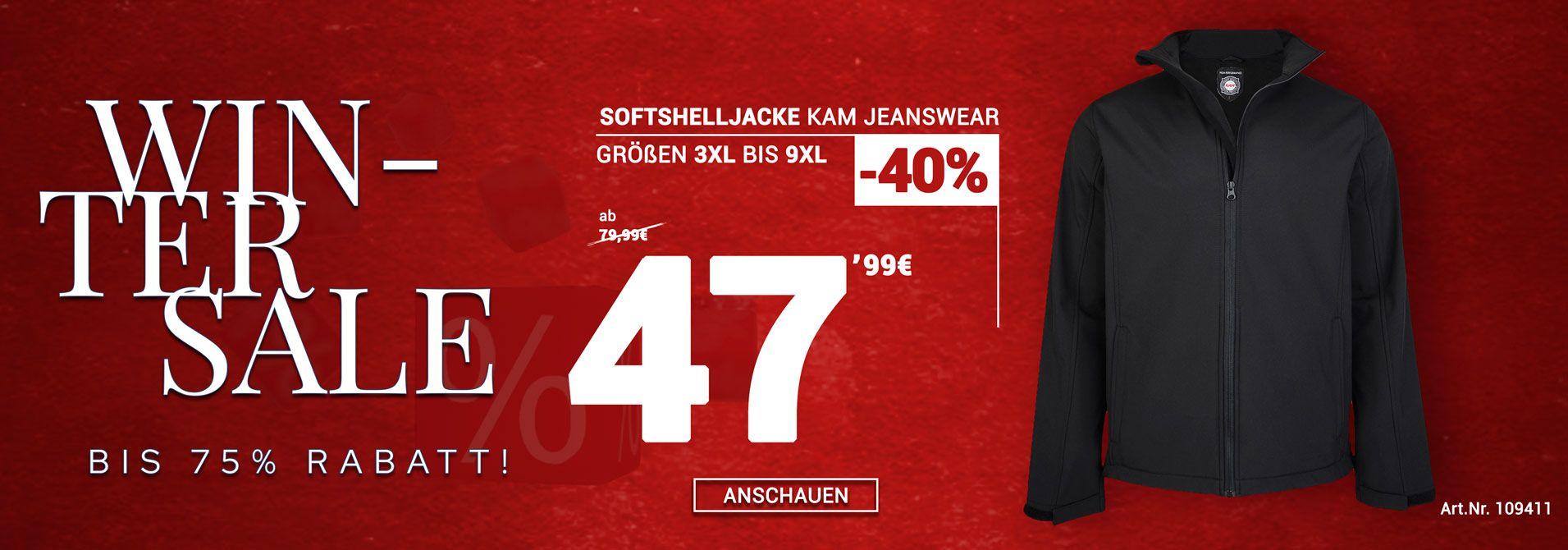 Übergrößen Softshelljacke von KAM Jeanswear
