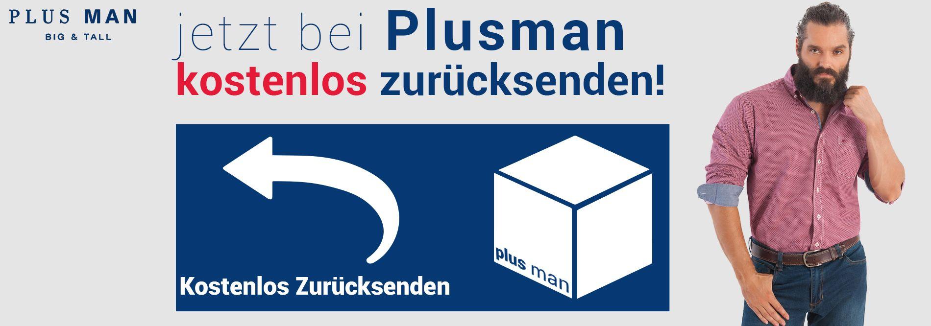 Jetzt kostenlos zurücksenden bei Plusman.de