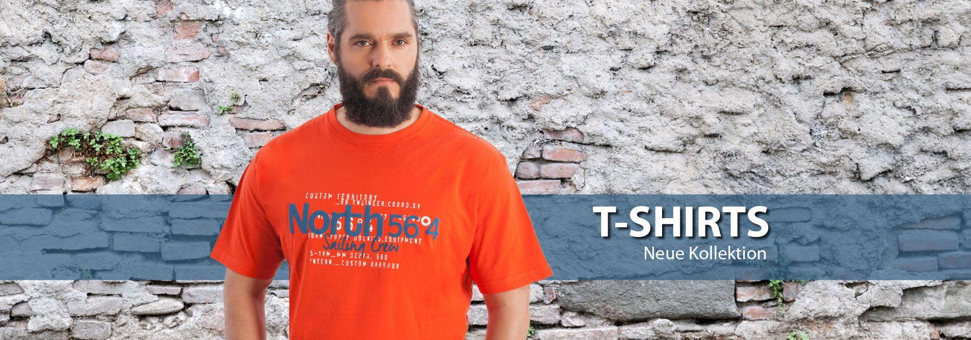 Kurzarm T-Shirts Übergröße