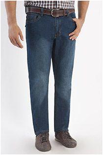 Gewassen grote maten jeansbroek