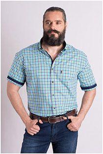 Kurzarm Hemden mit extra Rückenlänge